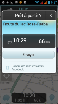 Gps waze direction